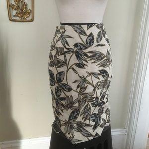 J Crew Leaf Print Cotton Skirt 4